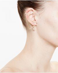 Yvonne Léon | Metallic 18k Gold And Diamond Chain Earring | Lyst