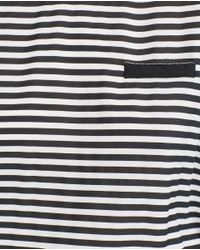 Zara | Black Blouse With Back Neckline Detail | Lyst