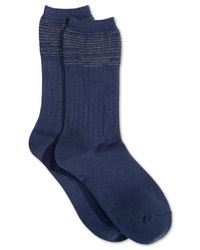 Vince Camuto - Blue Women's Rib Trouser Socks - Lyst