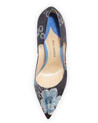 Paul Andrew - Black Manhattan Floral Jacquard Pump - Lyst