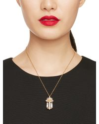 kate spade new york - Metallic Fete First Present Pendant - Lyst