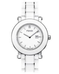 Fendi | Ceramic Round Watch/White | Lyst
