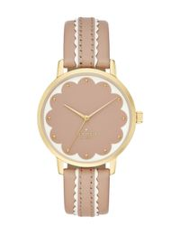 kate spade new york | Pink Scallop Metro Watch | Lyst