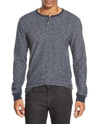 Volcom - Blue 'moxee' Long Sleeve Henley for Men - Lyst