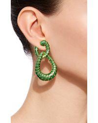 David Webb | Green Double Hoop Earrings | Lyst