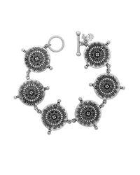 Lucky Brand   Metallic Silver-tone Tribal Coin Link Bracelet   Lyst
