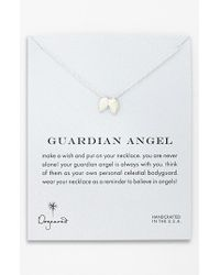 Dogeared - Metallic 'reminder - Guardian Angel' Wings Pendant Necklace - Sterling Silver - Lyst