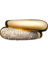Links of London | Metallic Hope 18ct Yellow-gold Double Diamond Ring | Lyst