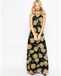 ASOS | Multicolor Cross Back Strap Floral Maxi Dress | Lyst