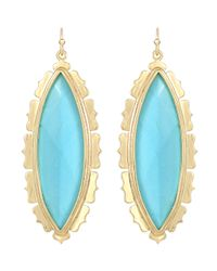 Kendra Scott | Blue Joelle Turquoise Marquise Earrings | Lyst