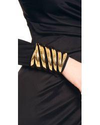 Rachel Zoe - Metallic Safari Wide Cutout Cuff Bracelet - Lyst