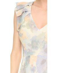 Rebecca Taylor - Natural Tiered Flowerpress Maxi Dress - Rock Salt - Lyst