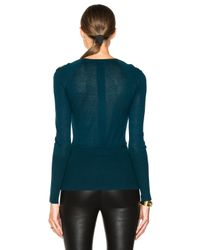 Yigal Azrouël | Blue Cold Shoulder Sweater | Lyst