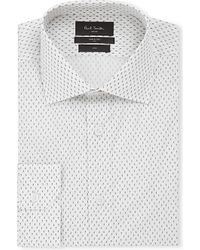 Paul Smith | White Soho-fit Mini-paisley Cotton Shirt for Men | Lyst
