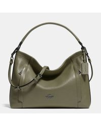 COACH - Green Scout Pebbled-Leather Hobo - Lyst
