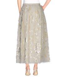 Rochas - White Long Skirt - Lyst