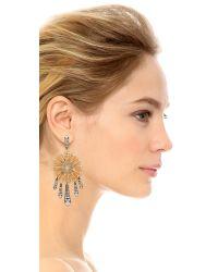 Lulu Frost - Metallic Daisy Statement Earrings - Lyst