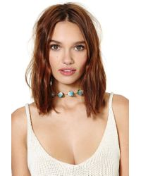 Nasty Gal | Blue Right On Cube Collar Necklace | Lyst