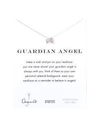 Dogeared   Metallic Sterling Silver Guardian Angel Wings Reminder Necklace   Lyst