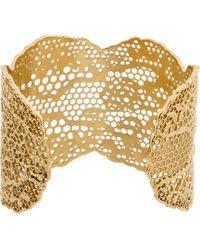 Aurelie Bidermann - Metallic Gold Vintage Lace Cuff - Lyst