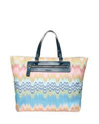 Missoni - Blue Knit Beach Bag - Lyst