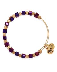 ALEX AND ANI | Purple Trailblazer Expandable Wire Bangle | Lyst