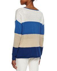Lafayette 148 New York | Blue Long-sleeve Colorblock Sweater | Lyst
