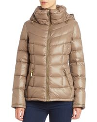 Calvin Klein | Natural Petite Hooded Packable Puffer Coat | Lyst