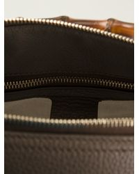 Gucci - Gray Bamboo Handle Tote - Lyst