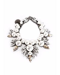 Ellen Conde | White Pearl And Crystal Bracelet | Lyst