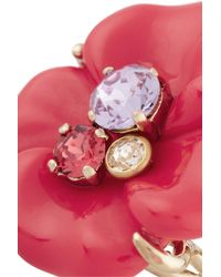 Nina Ricci | Pink Goldtone Resin and Crystal Ring | Lyst