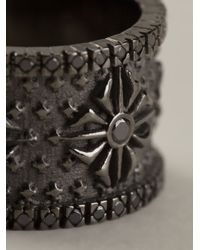 Shamballa Jewels - Gray Black Diamond Ring for Men - Lyst