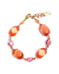 Dabby Reid | Orange Semiprecious & Crystal Bracelet | Lyst