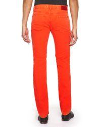 HUGO - Red 708  Slim Fit 85 Oz Stretch Cotton Jeans for Men - Lyst