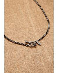 Forever 21 - Metallic Men Ettika Disc And Italian Horn Chain Necklace for Men - Lyst