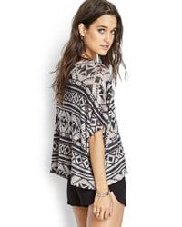Forever 21 | Gray Southwestern-inspired Sweater | Lyst
