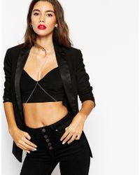 ASOS | Metallic Sleek Ball Choker & Bar Body Harness | Lyst