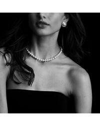 David Yurman | Metallic Cerise Earrings With Pearls And Diamonds | Lyst