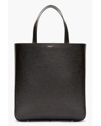 Saint Laurent   Black Pebbled Leather Minimalist Tote   Lyst