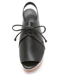 Tibi - Malone Flatform Sandals - Black - Lyst