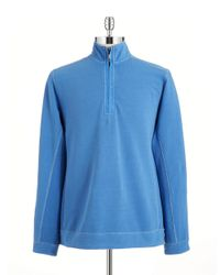 Tommy Bahama - Blue Quarter Zip Pullover - Lyst