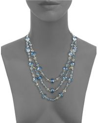 Catherine Stein | Blue Tiered Layered-effect Necklace | Lyst