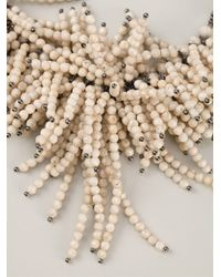 Brunello Cucinelli - White 'Riverstone' Necklace - Lyst