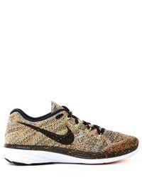 Nike - Metallic Gold Flyknit Lunar 3 Trainers - Lyst