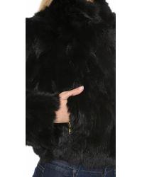 Adrienne Landau | Black Fur Moto Jacket | Lyst