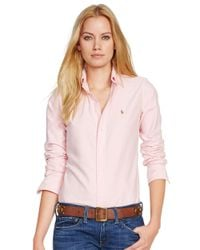 Polo Ralph Lauren | Pink Custom Fit Oxford Shirt | Lyst