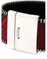 Aech Cheli - Red 'zip' Bracelet for Men - Lyst