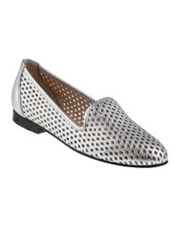 Jon Josef | Metallic G-perf Loafer Silver Leather | Lyst