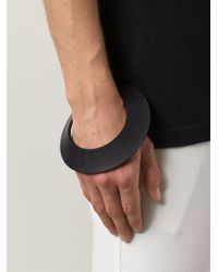 Rick Owens - Black 'faun' Notched Bangle for Men - Lyst
