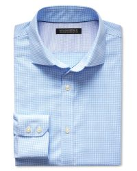 Banana Republic | Blue Tailored Slim-fit Non-iron Micro-check Shirt for Men | Lyst